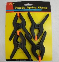 "4pc 3"" Plastic Spring Clamps"